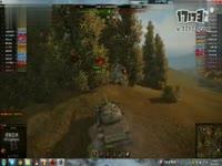 (坦克世界)T-54进10级房遭遇视野压制,肉侦+猥琐 战斗到最后一秒