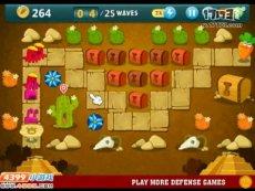 保卫萝卜沙漠模式第5关 小游戏视频攻略