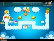 保卫萝卜正式版第1关 小游戏视频攻略