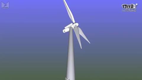 大型风力发电机的内部构造
