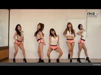 韩国性感美女舞蹈团Waveya组合练舞教学 劲爆热