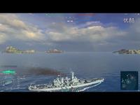 集锦 【战舰世界老菜B】北卡罗来纳  爷们的船就是冲 绝对不能怂-战列舰