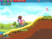 朵拉自行车赛儿童亲子小游戏|朵拉历险记动画片中文版★全集超清★爱探险的朵拉 短片